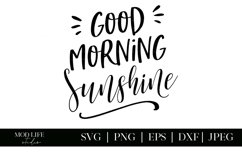 Good Morning Sunshine SVG Cut File - SVG PNG EPS DXF JPEG Product Image 2