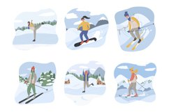 Winter sport people characters Product Image 3