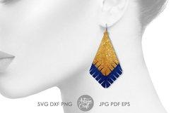 Earrings SVG, Teardrop earring, Geometrical earrings Product Image 6