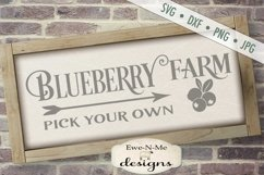 Blueberry Farm - Pick Your Own - Farm Rustic - SVG DXF Files Product Image 1