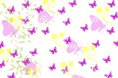 Butterflys Digital Paper, Vintage paper , Butterfly clip art Product Image 2