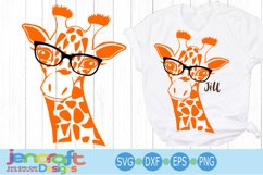 Giraffe in glasses svg, Cute Funny Kids Mother svg clip art Product Image 1