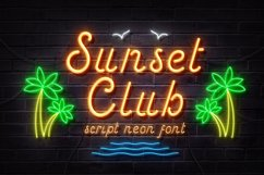Sunset Club Script Neon Font Product Image 1