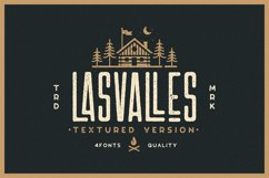 Las Valles Ultra Textured Condensed Typeface 4 Fonts Product Image 1