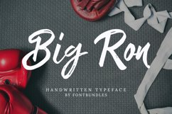 Web FontBig Ron Product Image 1