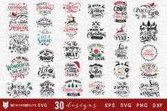 Christmas Bundle 30 designs SVG EPS DXF PNG Product Image 1