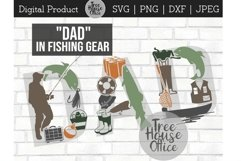 Fishing Dad Father's Day Fisherman Fish Gear SVG PNG JPEG Product Image 1
