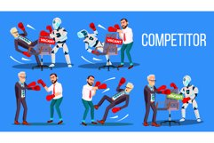 Competitor Of Work Vacancy Position Set Vector Product Image 1