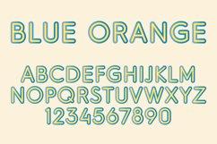 Blue Orange Color SVG Font Product Image 1