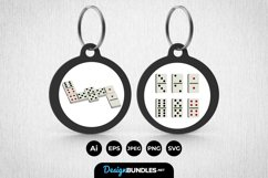 Dominos Keychain Product Image 1