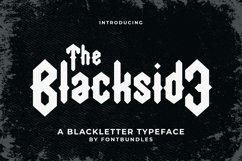 Web Font Blackside Product Image 1