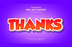 3D Thanks Text Effect Product Image 1