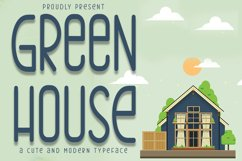 Green House | Cute Sans Serif Font Product Image 1