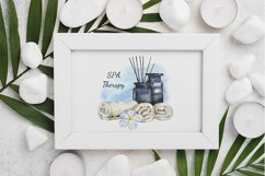 Watercolor Spa compositions. 1 relax card. JPG, PNG Product Image 2