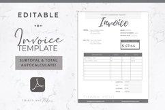 Invoice Template | Editable PDF | Printable Invoice Product Image 1