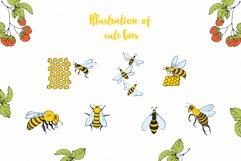 Vector Bees and Honey! Product Image 6