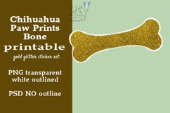 Chihuahua Gold Glitter Printable Sticker SET Product Image 3