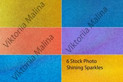 Defocused backgrounds of shining sparkles. Product Image 1