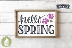 Hello Spring SVG, Spring Sign SVG Product Image 1