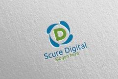Secure Digital Letter D Digital Marketing Logo 80 Product Image 3