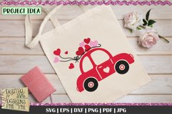 Love Bug Car with Hearts SVG | Valentines Car SVG | Love Car Product Image 2