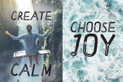 Meditative font - cute English font Product Image 6