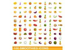 Smoothies icons set, cartoon style Product Image 1