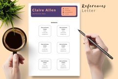 Creative Resume CV Template for Word & Pages Claire Allen Product Image 6