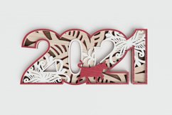 New Year laser cut file - 2021 - Year of the Ox Product Image 1
