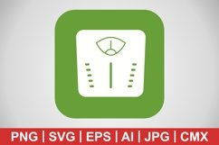 Vector Weight Machine Icon Product Image 1