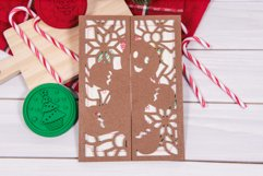 Gingerbread Man Christmas Invitation cutting file Product Image 3