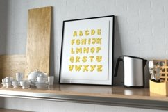 Cheese Alphabet Printable, Digital ABC Poster, Food Letters Product Image 1