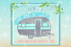 My Happy Place Camper Camping SVG DXF files for Cricut Product Image 1