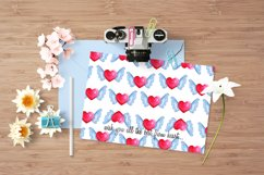 Love forest watercolor set with patterns, cards, wreaths Product Image 6