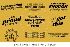 BEST SELLER Positive Affirmation, Recovery, Kindness SVG Product Image 2