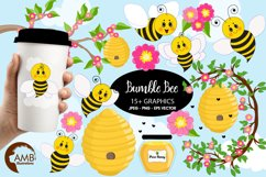 Bumble bee cliparts, Honey bee cliparts, graphics, illustrations AMB-1053 Product Image 1