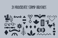 Scandinavian Abstract Modern Folk Art Procreate Stamps Product Image 2