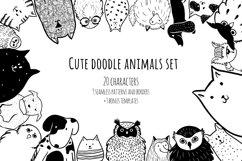 Cute doodle animals set Product Image 1