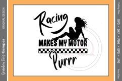 Racing SVG, Racing Makes My Motor Purr Product Image 2