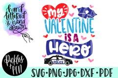 police valentine - hero svg Product Image 1