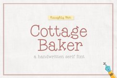 Cottage Baker Handwritten Serif Font Product Image 1