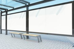 Bus Stop with 3 Billboard Mockup Product Image 2