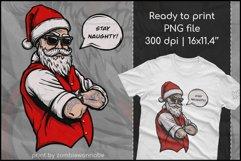 Naughty Santa, Christmas T Shirt Design, Christmas Clipart Product Image 1