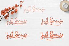 JustBecause font family Product Image 2