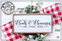 Meals and Memories Are Made Here - A horizontal Sign SVG Product Image 1