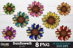Sunflowers Sublimation Bundle, Sunflower Sublimation PNG Product Image 1