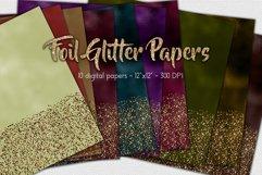 Foil Glitter Digital Paper Set Product Image 1