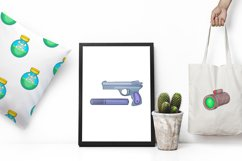 Spy and security icons set, cartoon style Product Image 2