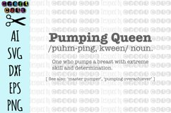 Pumping Queen SVG, Funny Breastfeeding SVG, Digital Download Product Image 4