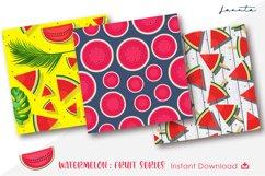Watermelon Fruit Seamless Pattern Background Product Image 2